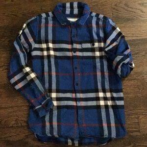 Burberry Boys Plaid Flannel Shirt Size 12 year